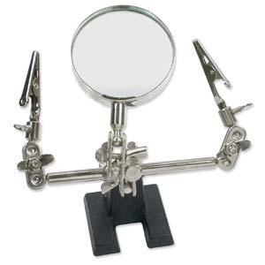 Third Hand with Alligator Clip And Magnifier