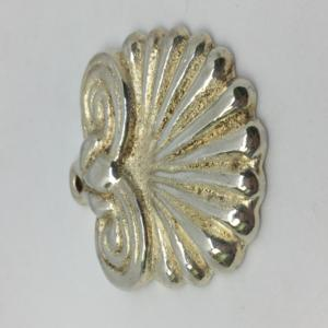 Shell Pendant 40x52mm Silver