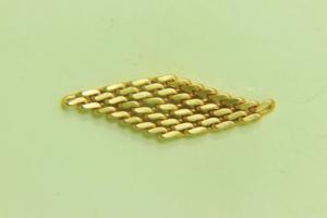 60x16mm Flexible Link Satin Gold
