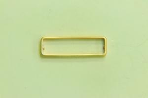 26x8mm Rectangle Bead Satin Gold
