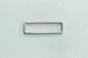 26x8mm Rectangle Bead Satin Rhodium