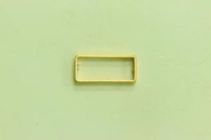 17x8mm Rectangle Frame Satin Gold