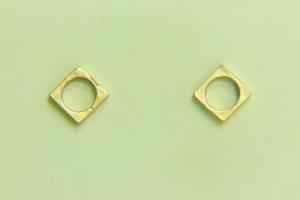 8.4mm Sq Bead Frame Satin Gold