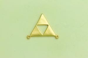 2 Loop Open Triangle Satin Gold