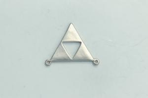 2 Loop Open Triangle Satin Rhodium