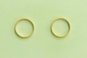 12mm Rd Bead Frame Satin Gold