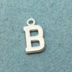 Letter B Silver Plated