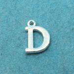 Letter D Silver Plated