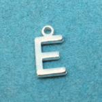 Letter E Silver Plated