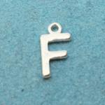 Letter F Silver Plated