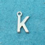 Letter K Silver Plated