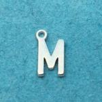 Letter M Silver Plated
