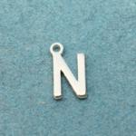 Letter N Silver Plated