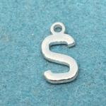 Letter S Silver Plated