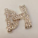 Silver 26x24 Crys Buckle Clasp
