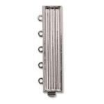 Silver Plated SP 33x7mm 5 Strand w/Hole